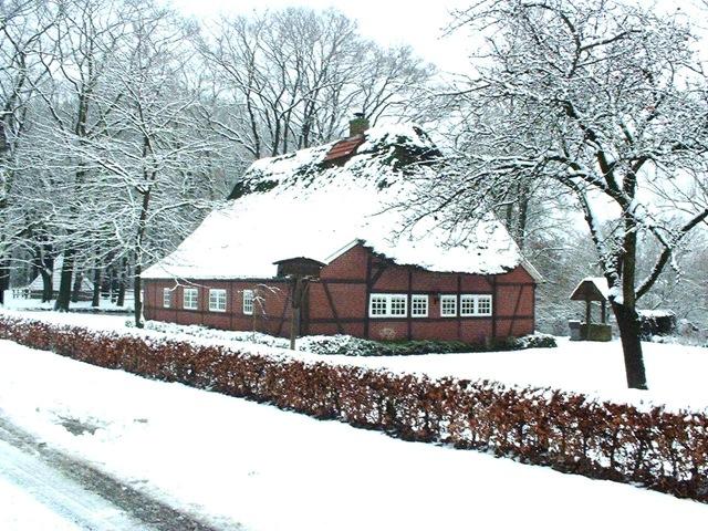 Heimathaus im Winter