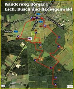 Wanderweg Esch, Busch und Hedwigenwald