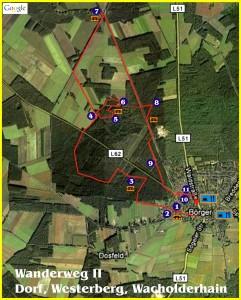 Wanderweg - Dorf, Westerberg und Wacholderhain