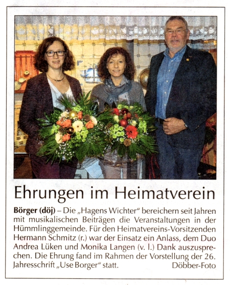 Andrea Lücken und Monika Langen