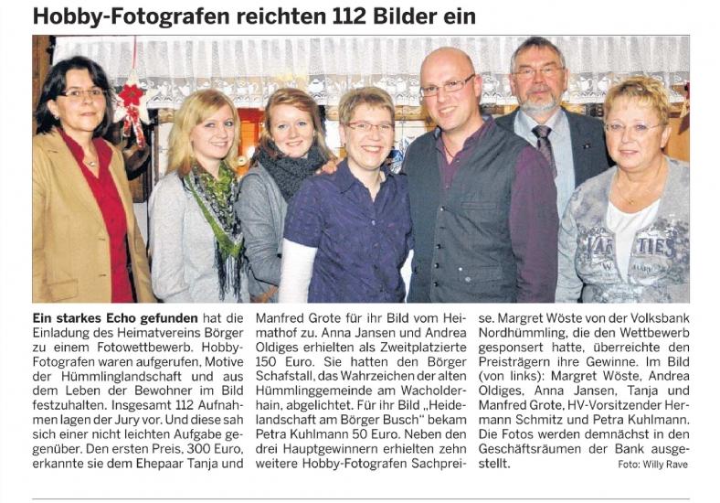 Fotowettbewerb Heimatverein Börger