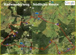Radwanderweg Südliche Route