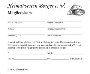 Mitgliedskarte HV