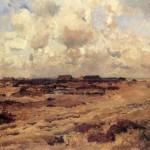 Schafställe in der Heide - Eugen Felix Bracht