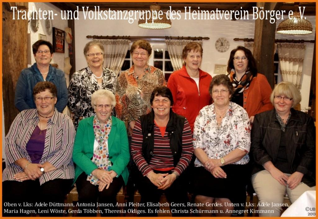 Volkstanzgruppe des HV Börger - Foto UB