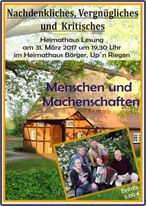 Plakatwerbung in Börger und Umgebung