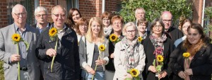 Die Unterstützergruppe aus Börger nahm den Preis entgegen.