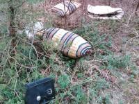 Müll in den Dünen - markantes Kissen bzw. Tasche