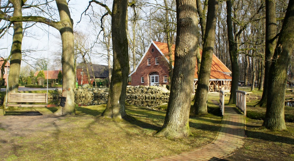 Zehntscheune, Ostern 2018, auf dem Börger Heimathof