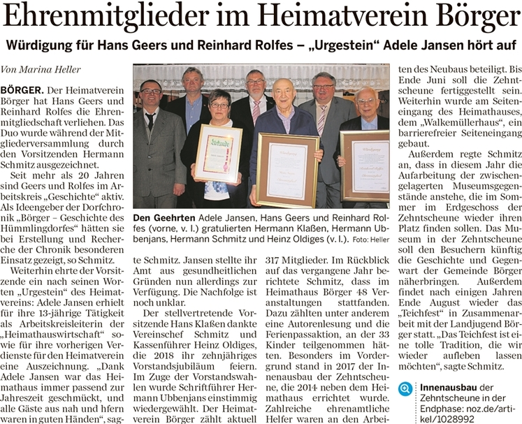 JHV 2018 Bericht Heller Sögel